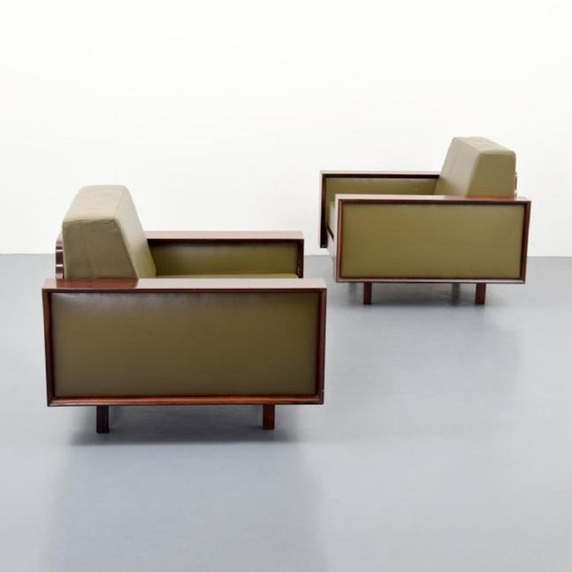 Mid-Century Modern Gorgeous Pair of Celina Decoracoes Rosewood Lounge Chairs, Brazil, 1950s For Sale - Image 3 of 7