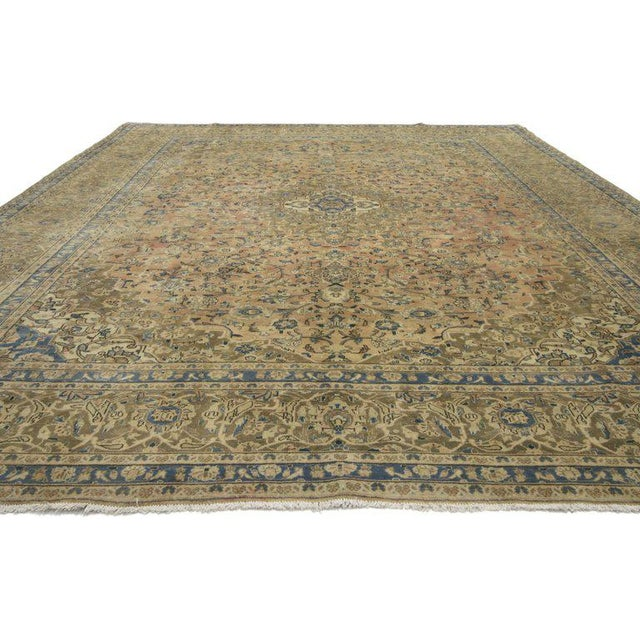20th Century Persian Kashan Rug - 9′8″ × 12′10″ For Sale - Image 4 of 7