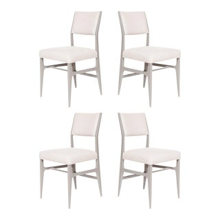 Set of 4 Maze Lacquered Dining Chairs For Sale