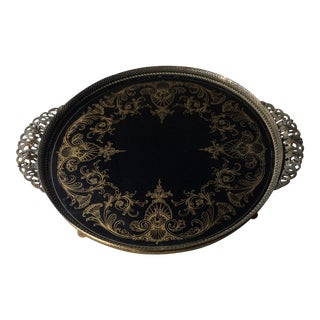 """Antique French """"Plateau"""" Serving Tray For Sale"""
