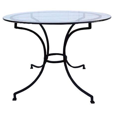 Vintage Round Iron Dining Table - Image 1 of 3