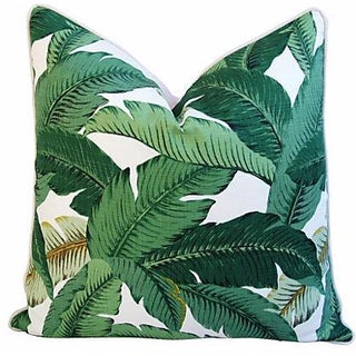 Custom-Made Tropical Iconic Banana Leaf Pillow