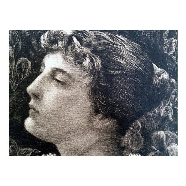 Etching Portrait of Lucille by William St John Harper 1888 - Image 6 of 6