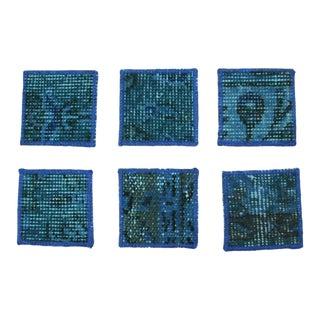 Carpet Coasters | Aqua Overdye Coasters