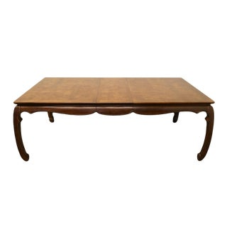 20th Century Chinoiserie Universal Furniture Dining Table For Sale