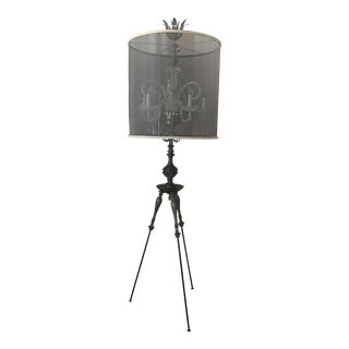 Luna Bella Tripod Crystal Chandelier Floor Lamp For Sale