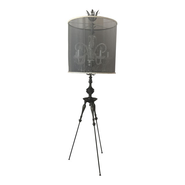 Luna Bella Tripod Crystal Chandelier Floor Lamp For Sale