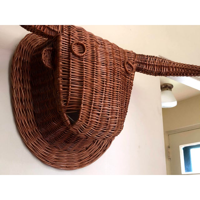 20th Century Wicker Bull Head For Sale - Image 4 of 6