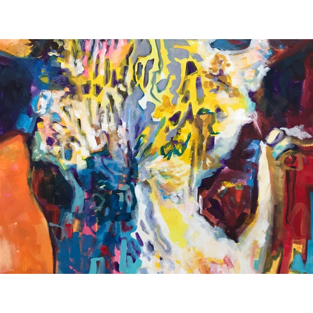 Canvas 2010's Contemporary Cow Acrylic Painting by David Warmenhoven For Sale - Image 7 of 9