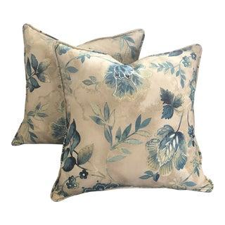 Floral Decorative Pillows - A Pair For Sale