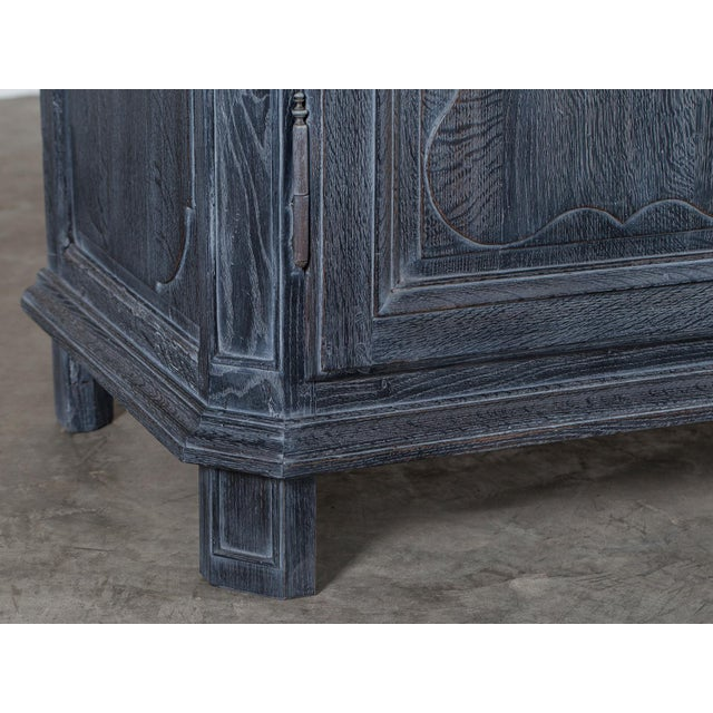 Antique French Régence Style Black Limed Oak Buffet circa 1770 - Image 8 of 11