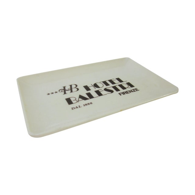 Vintage Hotel Balestri Italian Tip Tray - Image 1 of 6
