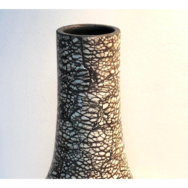 Mosaic Modern Ceramic Vase After Jean Gerbino's Neriation Technique For Sale - Image 7 of 8