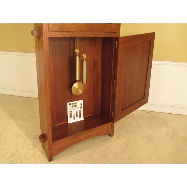 Mission Stickley Monumental Mission Oak Grandfather Clock For Sale - Image 3 of 11