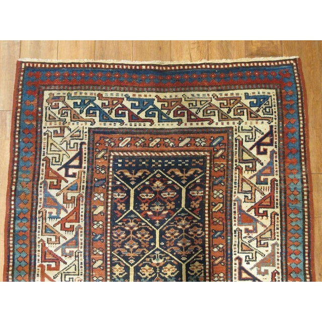"""Traditional Caucasian Shirvan Runner 3'2"""" x 10'3"""" For Sale - Image 3 of 3"""