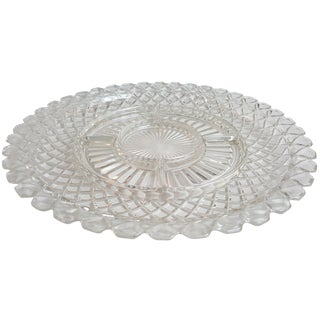 Patterned Glass Appetizer Platter