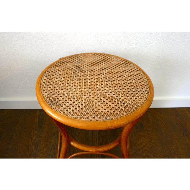 Vintage Rattan and Cane Tables - a Pair For Sale - Image 4 of 10
