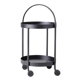 Cane-Line Roll Trolley, Lava Gray For Sale