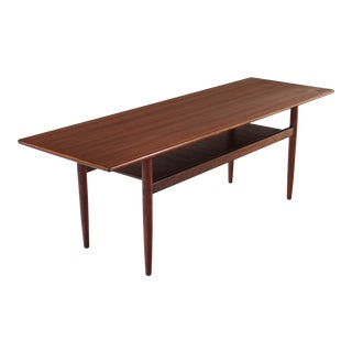 1960s Danish Modern Rosewood Coffee Table For Sale