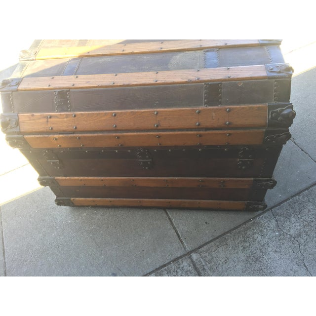 Antique Stagecoach Trunk Steamer For Sale - Image 9 of 13