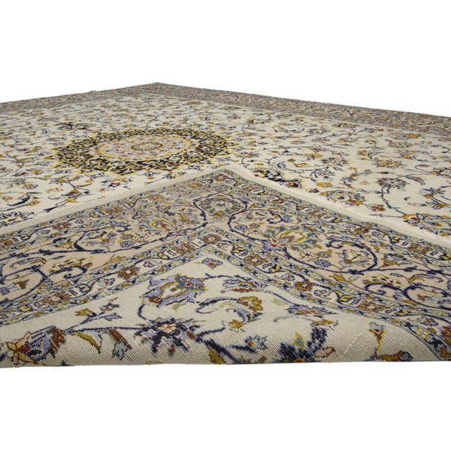 Vintage Persian Najafabad Rug With Light Colors - 9′9″ × 12′2″ For Sale - Image 4 of 6