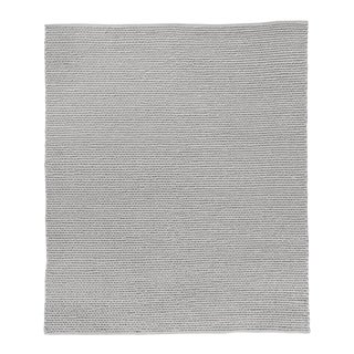 Reading Light Gray Flatweave Polyester/Cotton Area Rug - 9'x12' For Sale