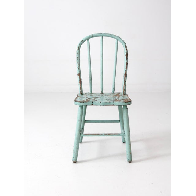 Vintage Children's Spindle Back Chair - Image 3 of 8