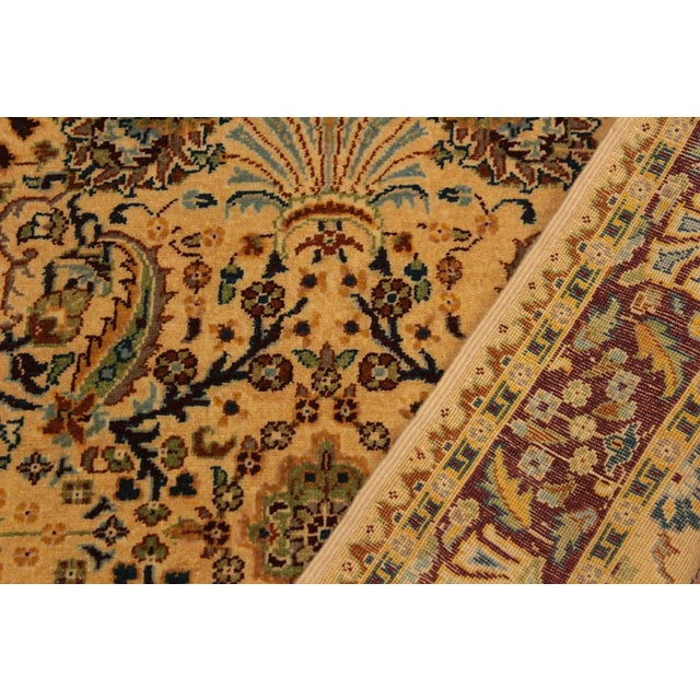 Semi Antique Istanbul Joellen Tan/Red Turkish Hand-Knotted Rug -3'1 X 5'4 For Sale In New York - Image 6 of 8