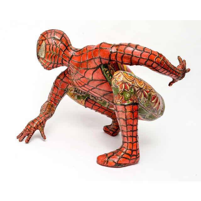 Domenico Pellegrino Spiderman Sculpture - Image 3 of 10