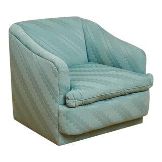 1980s Postmodern Swiveling Barrel Lounge Chair For Sale