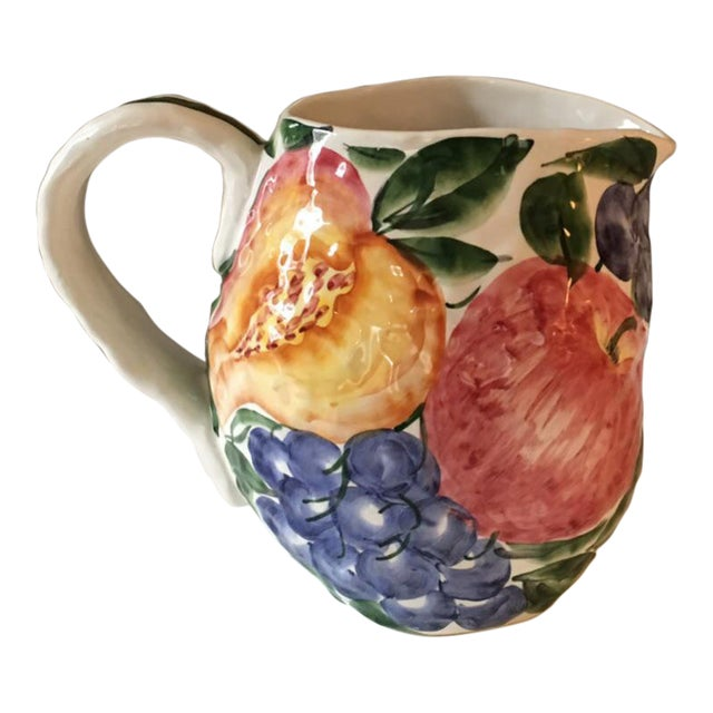 Vintage Italian Majolica Pitcher For Sale