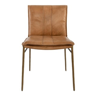 Palomino & Bronze Dining Chair For Sale