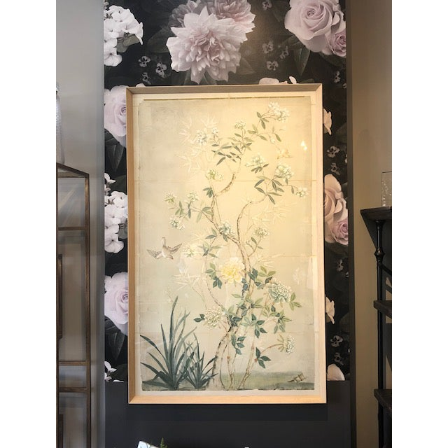 Kenneth Ludwig Chicago Chinoiserie Framed Textile Art For Sale - Image 4 of 5