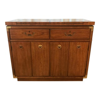 1970s Scandinavian Drexel Dry Bar Server Cabinet