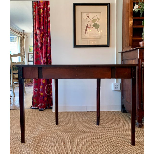 Early 20th Century Antique Traditional Walnut Demi-Lune Table For Sale - Image 5 of 9