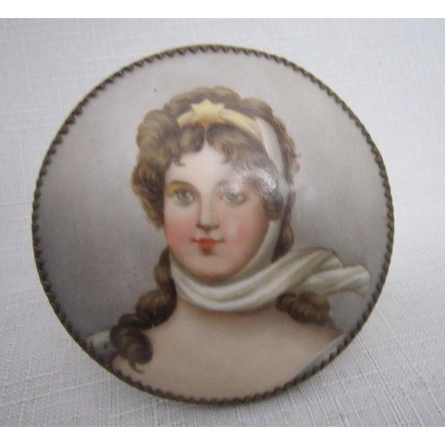 Victorian Porcelain Portrait Keepsake - Image 3 of 5