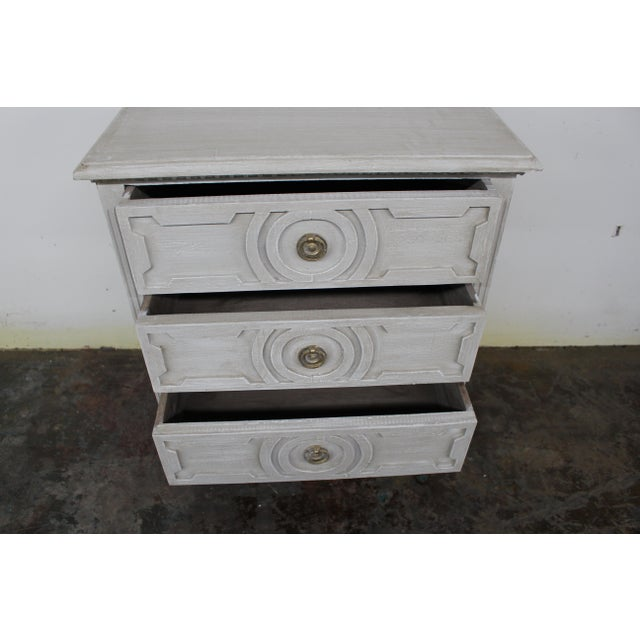 20th Century Vintage Swedish Gustavian Style Nightstands-A Pair For Sale In Atlanta - Image 6 of 10