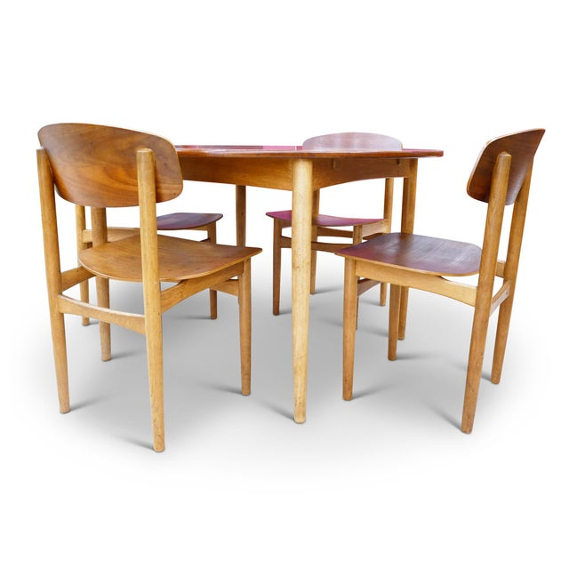 Danish Modern Vintage Børge Mogensen Dining Set for Soberg Mobelfabrik For Sale - Image 3 of 6