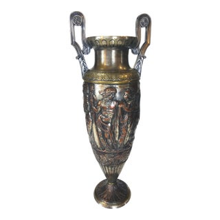 Neoclassic Mixed Metal Urn For Sale