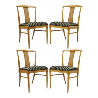 Set of 4 Thomasville Tamerlane Dining Side Chairs Mid Century Modern James Mont For Sale