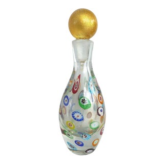 Mid-Century Murano Gambaro & Poggi Millefiori Bottle For Sale