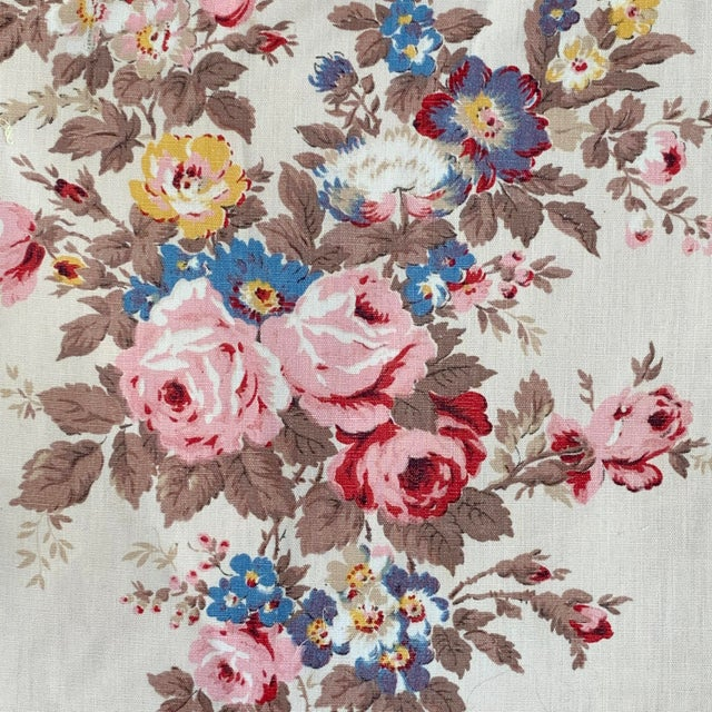 Textile Vintage French Shabby Chic Roses Pattern Curtain For Sale - Image 7 of 10
