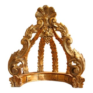 Italian 19th C. Gold Leaf Crown For Sale