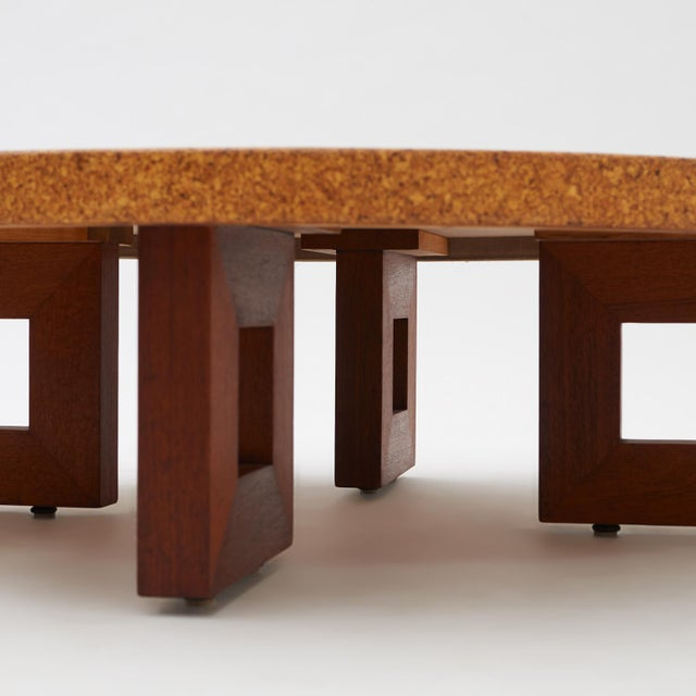 Mid-Century Modern Paul Frankl Cork Coffee Table For Sale - Image 3 of 5