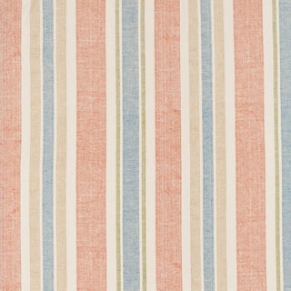 French Country Kathryn Ireland Moroccan Stripe Linen Designer Fabric by the Yard For Sale