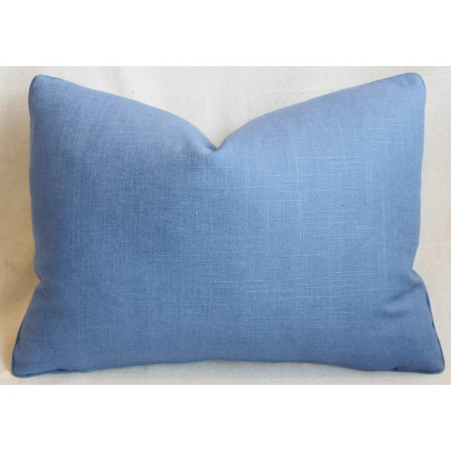 """Cotton P. Kaufmann Blue & White Animal Feather/Down Pillow 22"""" X 16"""" For Sale - Image 7 of 9"""