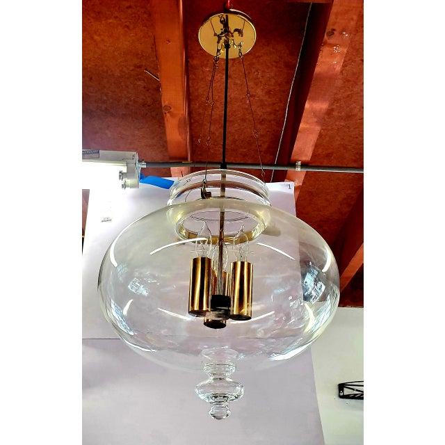 1960s Vintage Glass Globe Hanging Light Fixture For Sale - Image 13 of 13