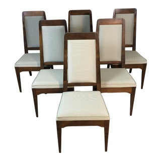 1960s Maple High Back Dining Chairs, Set of 6 For Sale