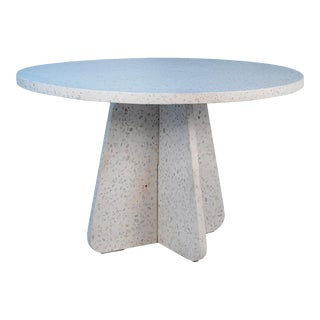 Terrazzo Cream Round Dining Table For Sale