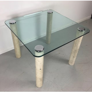 Pace Collection Mid-Century Modern Glass and Marble Card Table Preview